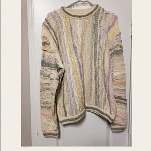 Men's light colored coogi sweater size small